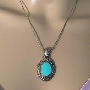 Turquoise Pendant Necklace #2